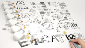 Creative design hand drawn EDUCATION Royalty Free Stock Image