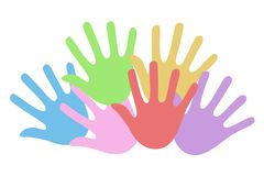 Hand symbol. Creative design of hand symbol Royalty Free Stock Photo