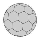 Handball ball illustration. Creative design of handball ball illustration stock illustration