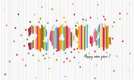 Creative design 2014, Happy new year, Cutting paper Royalty Free Stock Photo