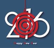 Creative design Happy new year 2016 Royalty Free Stock Photo