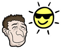 Happy and sun Stock Images