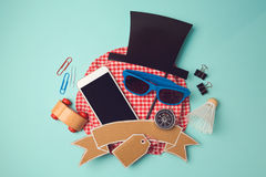 Creative design hero header image. Back to school modern logo design background. School supplies sale concept. Royalty Free Stock Image