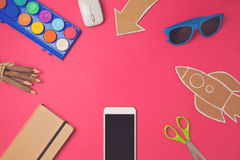 Creative design hero header image. Back to school modern website header background. Royalty Free Stock Photos