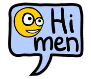 Hi men Stock Photos