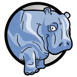Icon hippo Stock Images