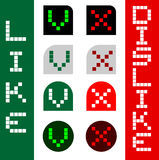 Icon like dislike Royalty Free Stock Photos