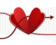Imaginative heart desgin. Creative design of imaginative heart illustration Stock Photos