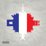 Creative design inspiration or ideas for France. Royalty Free Stock Image