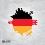Creative design inspiration or ideas for Germany. Creative design inspiration or ideas for Germany Stock Photos