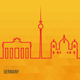 Creative design inspiration or ideas for Germany. Stock Photos