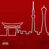 Creative design inspiration or ideas for Japan. Association and attractions Royalty Free Stock Image