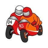 Intense motorcycle duel. Creative design of Intense motorcycle duel Stock Image