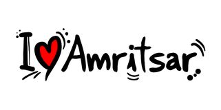 Amritsar love message. Creative design of love city message Stock Photos