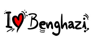 Benghazi love message. Creative design of love city message Stock Photography