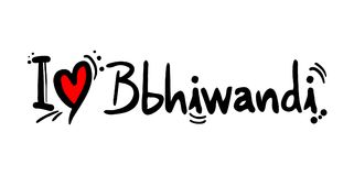 Bhiwandi love message. Creative design of love city message Royalty Free Stock Images