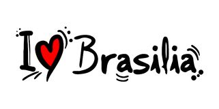 Brasilia love message. Creative design of love city message Royalty Free Stock Photography