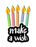 Make a wish message. Creative design of Make a wish message Royalty Free Illustration