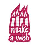 Make a wish message. Creative design of Make a wish message Stock Photos