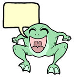 Message frog Royalty Free Stock Image