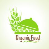 Creative design of organic food word label concept Stock Photography