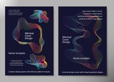 Creative design poster with vibrant gradients shapes. Minimal brigth backgrounds for flyer, cover, brochure. Vector template.  Royalty Free Stock Images
