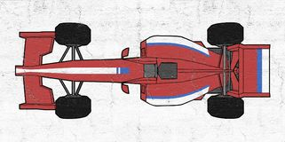 Red vector sport car Royalty Free Stock Photography