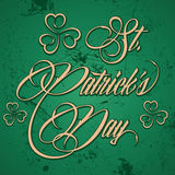 Creative design for St  Patricks Day. Illustration Stock Photo
