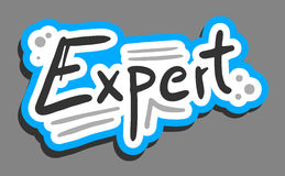 Sticker expert Royalty Free Stock Image