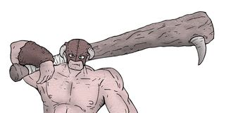 Strong barbarian illustration. Creative design of strong barbarian illustration Royalty Free Stock Photography