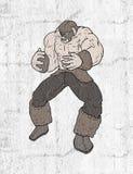 Strong barbarian illustration. Creative design of strong barbarian illustration Stock Image