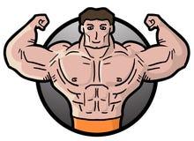 Strong man. Creative design of strong man Royalty Free Stock Photo