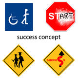 Creative design success concept from universal signs vector Royalty Free Stock Photos