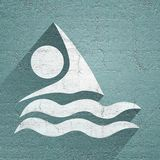 Swim icon Royalty Free Stock Image