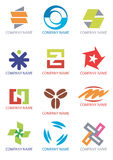 Creative_design_symbols_icons. Several symbols and icons for company logos. Vector illustration Stock Photos