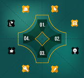 Creative Design template. For infographics Royalty Free Illustration