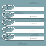 Creative Design template with stylized clouds Stock Photos