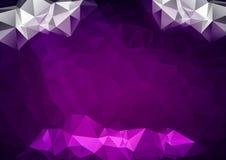 Creative Design Templates. Purple Polygonal Mosaic Background, Creative Design Templates Royalty Free Stock Photo