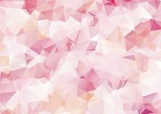 Creative Design Templates. Rose Pink Polygonal Mosaic Background, Creative Design Templates Royalty Free Stock Image
