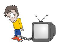 Trapped for television. Creative design of trapped for television royalty free illustration