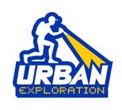 Urban exploration illustration. Creative design of urban exploration illustration Royalty Free Stock Photos