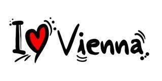 Vienna city love message Royalty Free Stock Photo