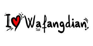 Wafangdian city love message Royalty Free Stock Image