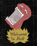 Welcome to hell. Creative design of Welcome to hell message stock illustration
