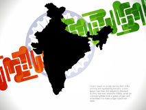 Creative Design With Map Of India Stock Photo