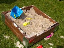 Creative design wooden sand box sandpit Royalty Free Stock Image