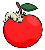 Worm apple Royalty Free Stock Photos