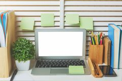 Creative designer workplace closeup Royalty Free Stock Images
