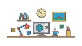 Creative designer workspace Office desk Royalty Free Stock Images