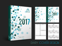 Creative Diary Cover design. Diary Cover, Personal Organizer or Notebook template layout for the year 2017 Stock Images